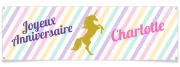 Bannière à personnaliser - Licorne Or