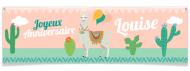 Bannière à personnaliser - Lama