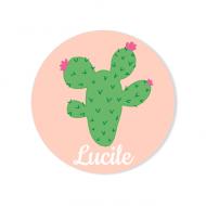 Badge à personnaliser - Cactus