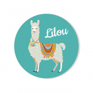 Badge à personnaliser - Lama