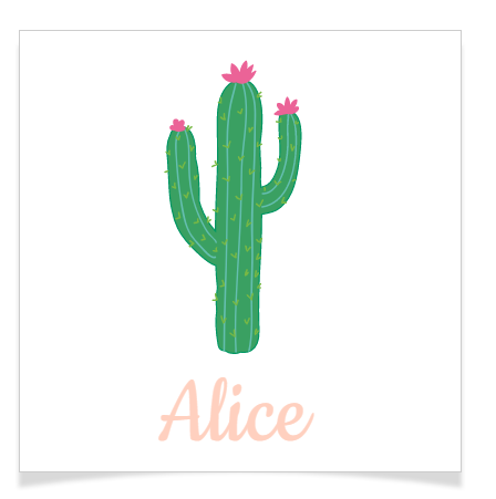 8 Tatouages à personnaliser - Cactus