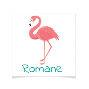 8 Tatouages à personnaliser - Flamant Rose