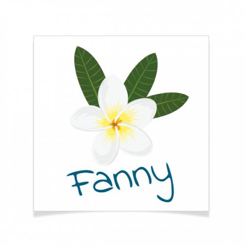 8 Tatouages à personnaliser - Fleur Tropicale