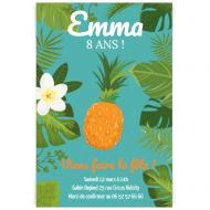 Invitation à personnaliser - Tropical Pineapple