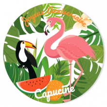 Fotocroc à personnaliser - Tropical Flamingo