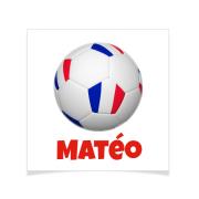 8 Tatouages à personnaliser - Ballon Foot France