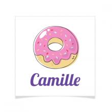 8 Tatouages à personnaliser - Donut
