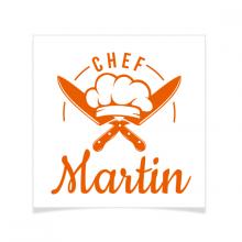 8 Tatouages à personnaliser - Chef