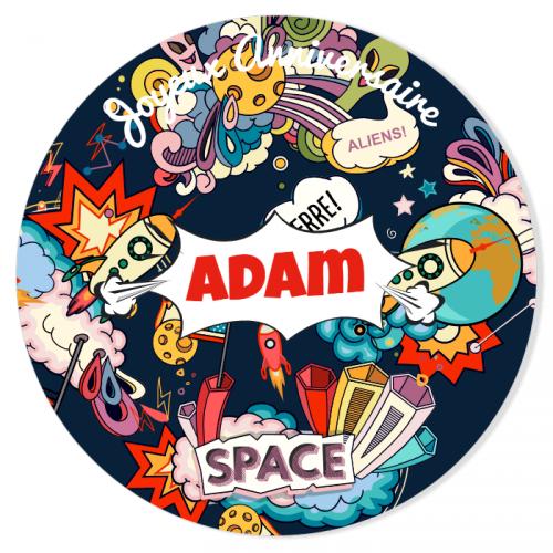 Fotocroc à personnaliser - Space Cartoon