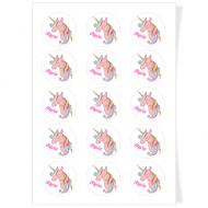 Disques Cupcake à personnaliser - Licorne