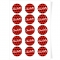 Disques Cupcake à personnaliser - Pois Noir/Rouge images:#0