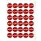 Disques Cupcake à personnaliser - Pois Noir/Rouge images:#1