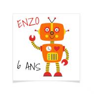 8 Tatouages à personnaliser - Robot Enzo