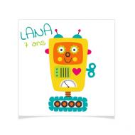 8 Tatouages à personnaliser - Robot Lana