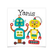 8 Tatouages à personnaliser - Robot Yanis