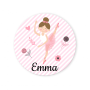 Badge à personnaliser - Ballerine
