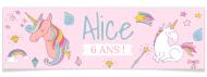Bannière à personnaliser - Licorne Rainbow
