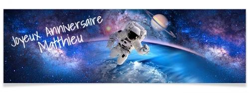 Bannière à personnaliser - Astronaute