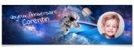 Bannière à personnaliser - Astronaute Photo