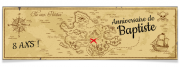 Bannière à personnaliser - Carte aux Trésors