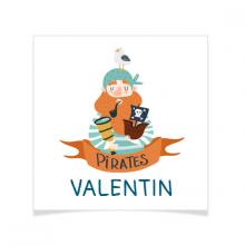 8 Tatouages à personnaliser - Captain Pirate