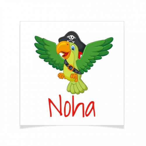 8 Tatouages à personnaliser - Perroquet Pirate