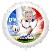 Ballon Photo Allez les Bleus - Gonflé à l'Hélium 55 cm