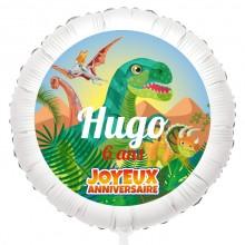 Ballon Dino T-Rex - Gonflé à l'Hélium 55 cm