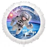 Ballon Photo Astronaute - Gonflé à l'Hélium 55 cm