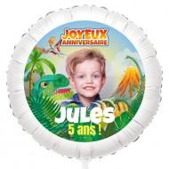 Ballon Photo Dino T-Rex - Gonflé à l'Hélium 55 cm