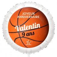 Ballon Basket - Gonflé à l'Hélium 55 cm