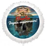 Ballon Pirate l'Ile Fantôme - Hélium 55 cm