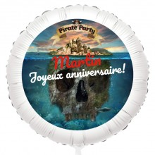 Ballon Pirate l'Ile Fantôme - Gonflé à l'Hélium 55 cm