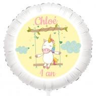 Ballon Licorne Baby - Gonflé à l'Hélium 55 cm