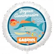 Ballon Pirate Ahoy! - Gonflé à l'Hélium 55 cm