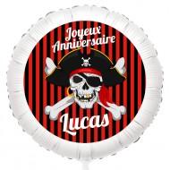 Ballon Pirate Tête de Mort - Hélium 55 cm