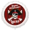 Ballon Pirate Tête de Mort - Hélium 55 cm images:#0