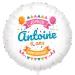 Ballon Happy Birthday - Gonflé à l Hélium 55 cm. n°1