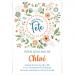Invitation à personnaliser - Fleurs de Printemps. n°2