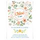 Invitation à personnaliser - Fleurs de Printemps Version 1