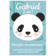 Invitation à personnaliser - Panda Bleu pastel