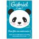 Invitation à personnaliser - Panda Bleu