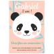Invitation à personnaliser - Panda Rose