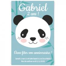 Invitation à personnaliser - Panda