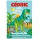 Invitation à personnaliser - Dino T-Rex Bleu