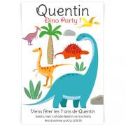 Invitation à personnaliser - Dino Colors