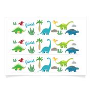 Contours à personnaliser - Dino Colors