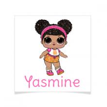 8 Tatouages à personnaliser - Lol Surprise Yasmine