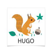 8 Tatouages à personnaliser - Écureuil