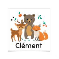 8 Tatouages à personnaliser - Animaux de la forêt
